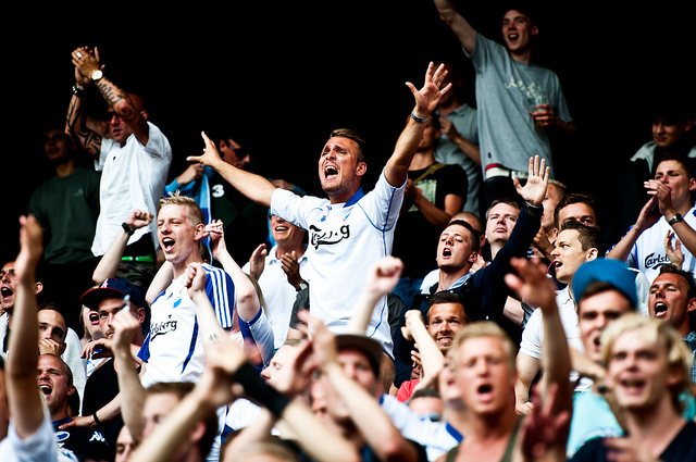 FC Copenhagen Fans Celebrating. Foto by Henrik Thorn